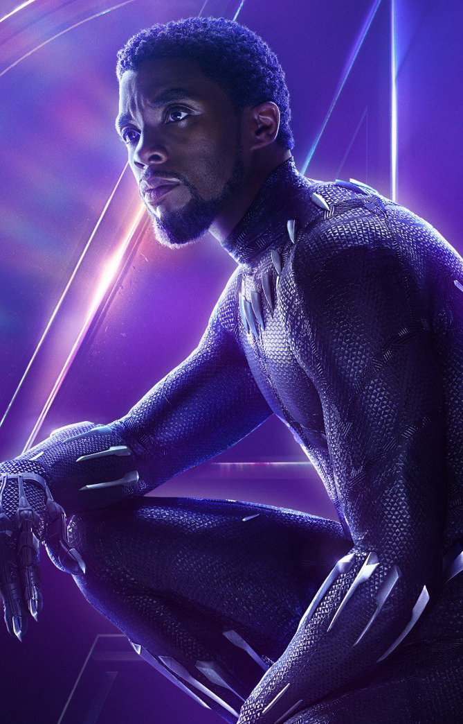 Avengers infinity war character poster black panther