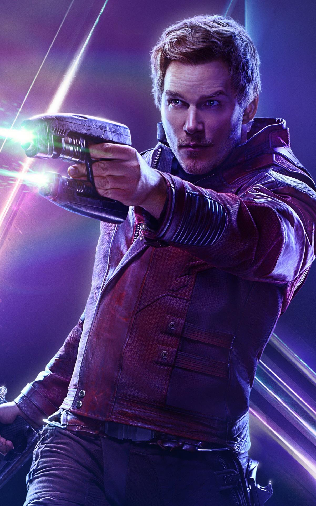 Avengers infinity war star lord poster