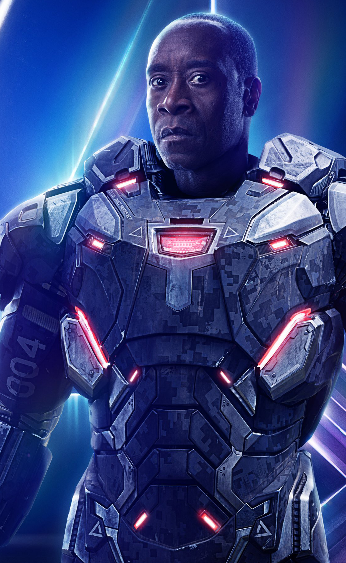 Avengers infinity war war machine poster