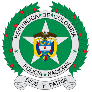 Coat of arms of colombian national police 1