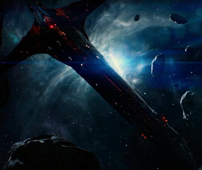 Dark elf flagship
