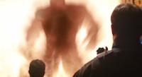 Hulk explosionsilhouette