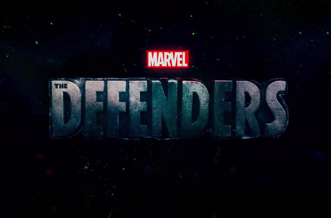 The defenders title card